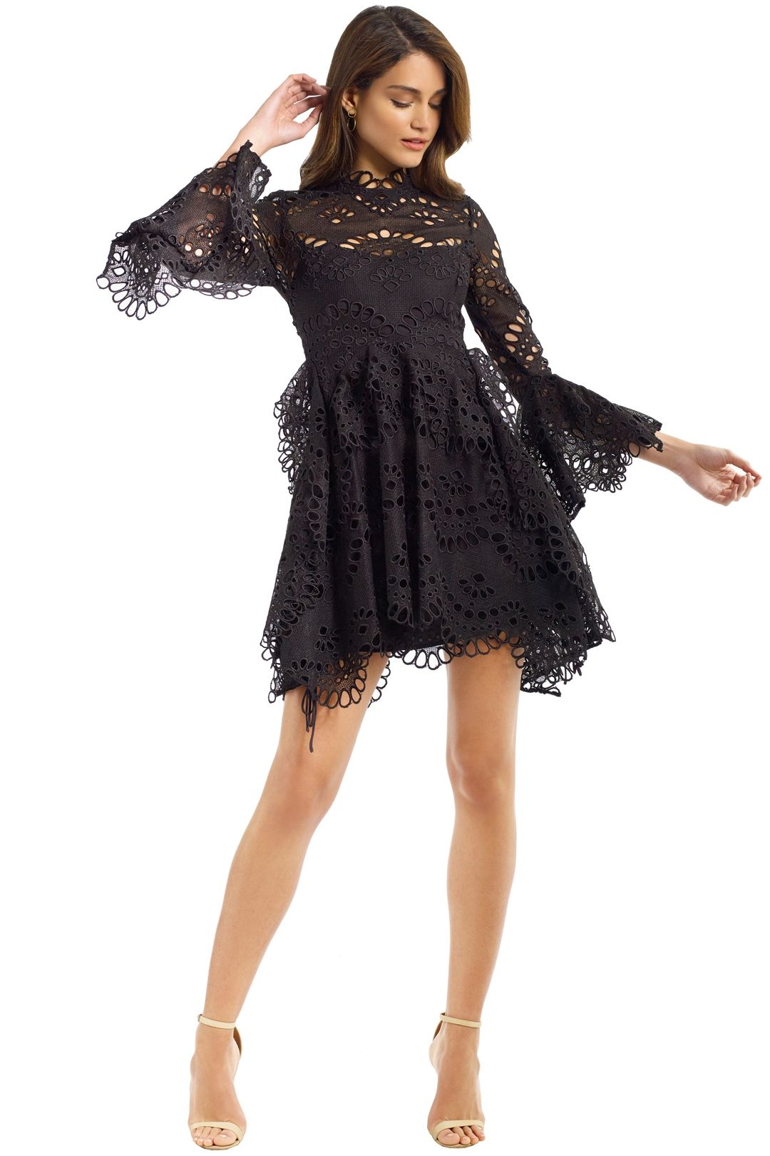 Thurley - Leo Embroidered Dress - Black - Front