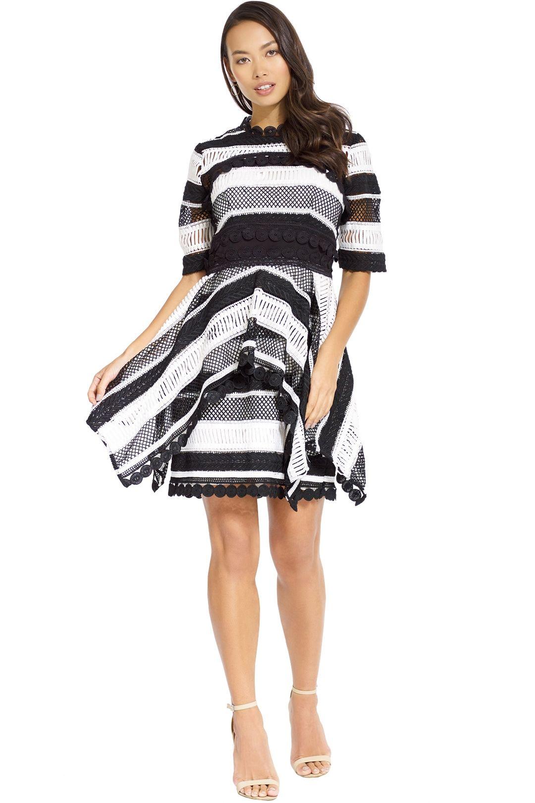 Thurley - Moonlight Mini Dress - Black White - Front
