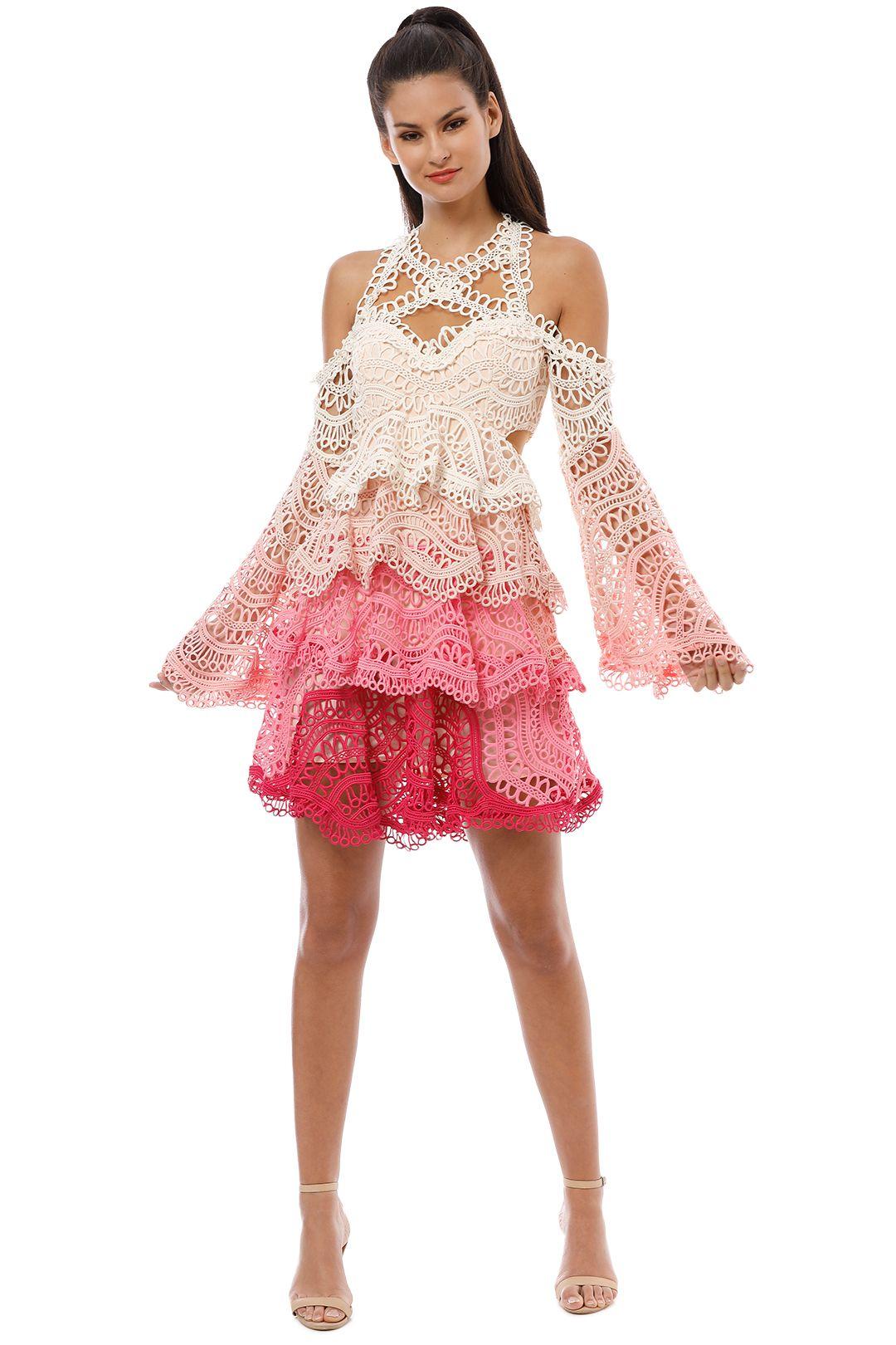 Thurley - Rainbow Mini Dress - Pink - Front