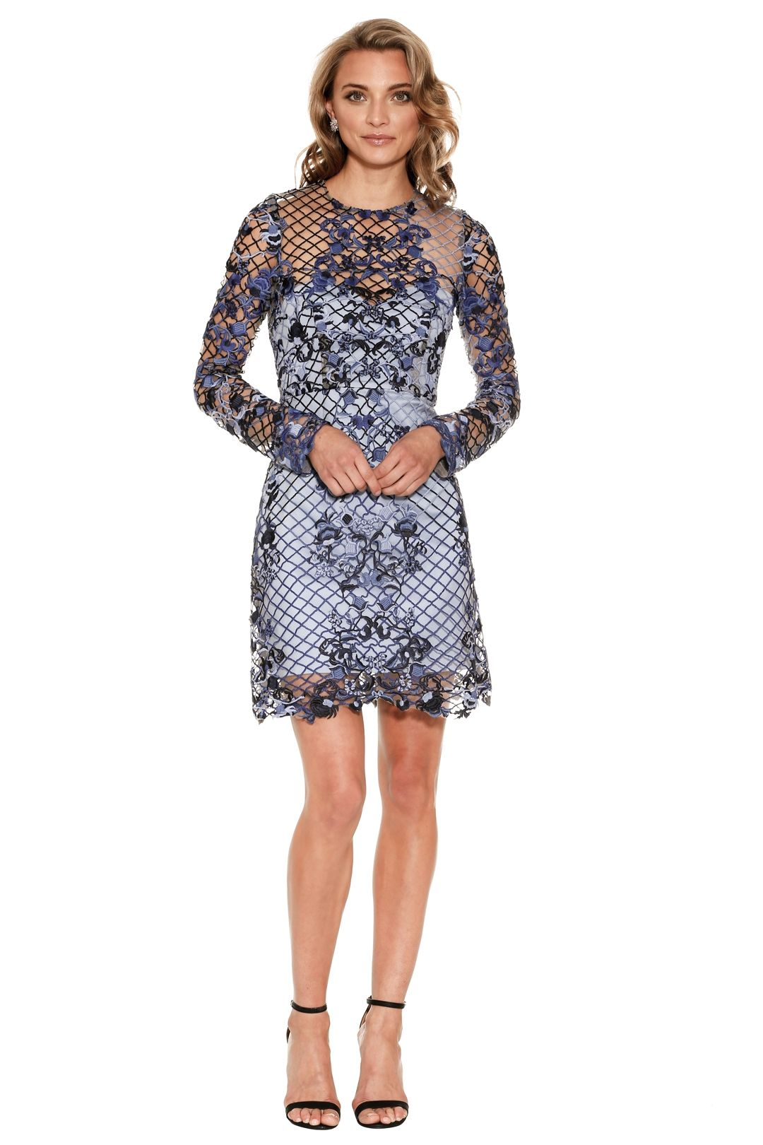 Thurley - Rossellini Mini Dress - Blue - Front