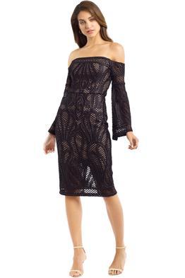 Thurley - Sonnet Strapless Dress - Black - Front