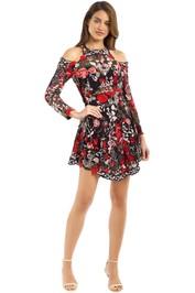 Thurley - Valencia Midi Dress - BlacK Multi - Front