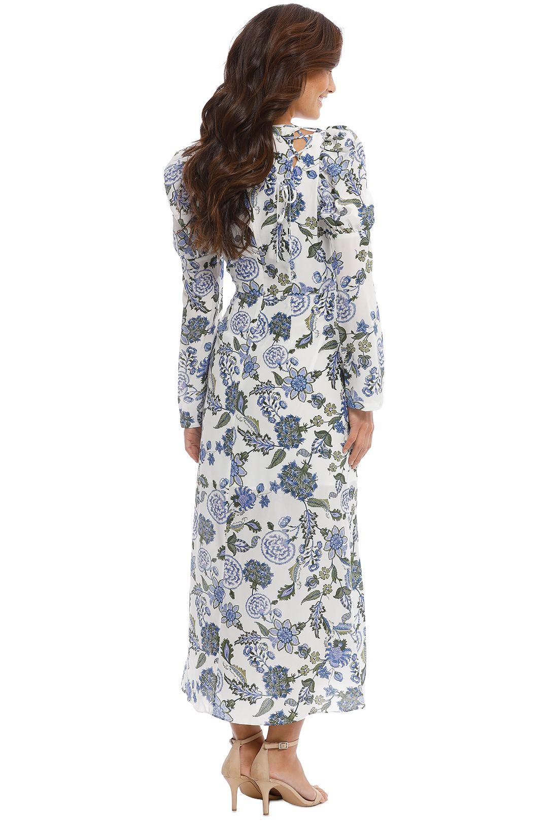 Thurley - Valentina Dress - Cornflower - Back