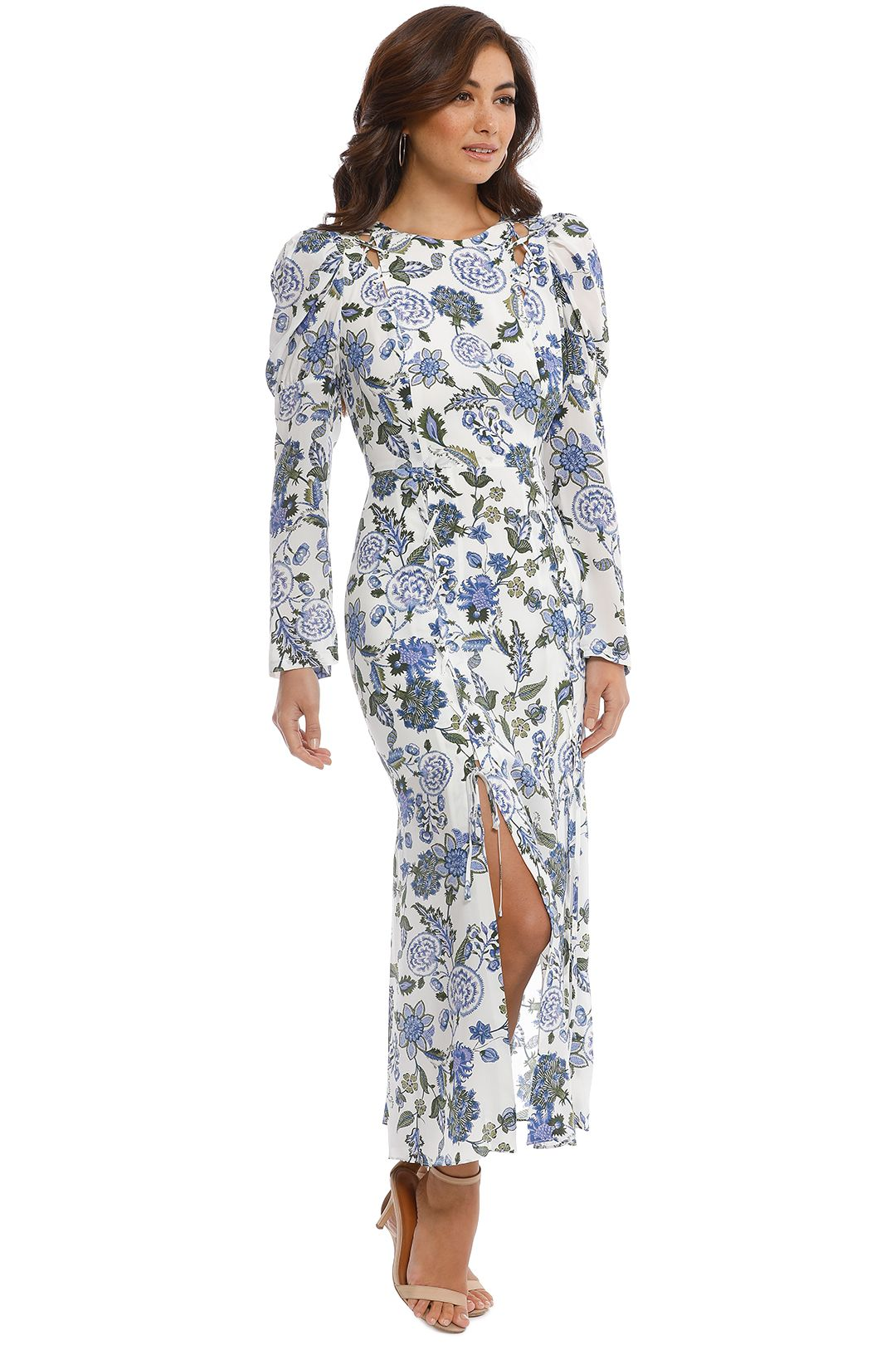 Thurley - Valentina Dress - Cornflower - Side