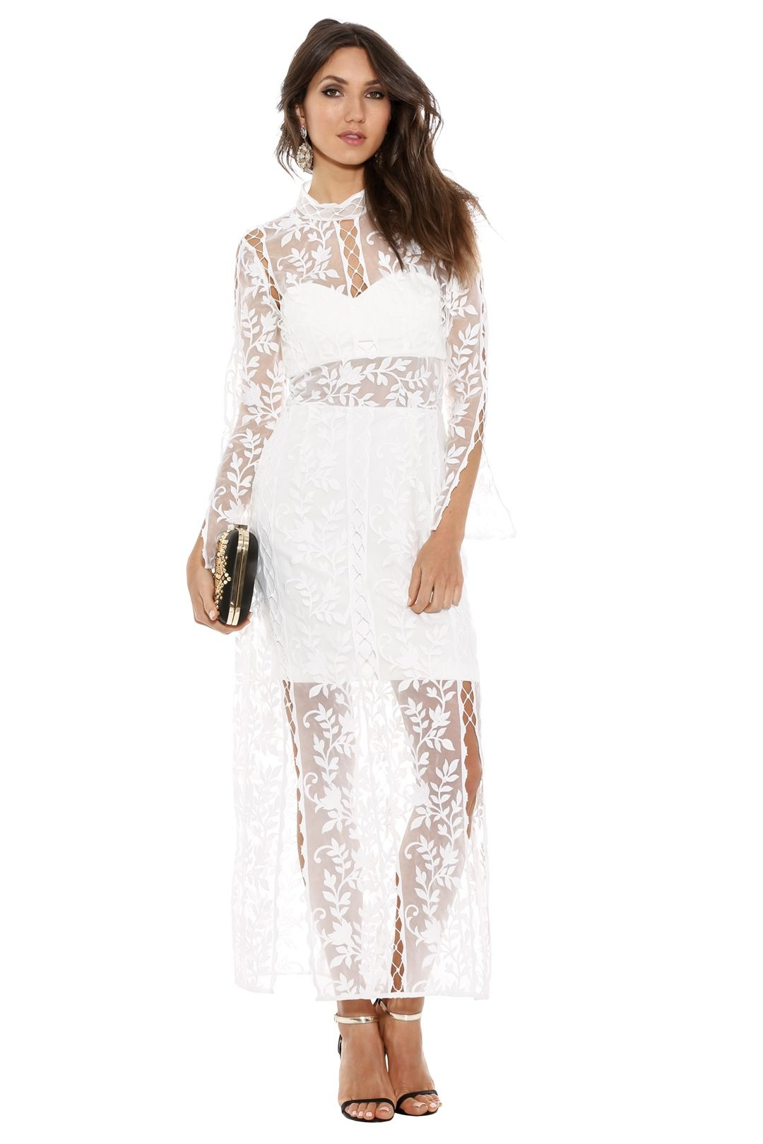 Thurley - Wisteria Dress - White - Front