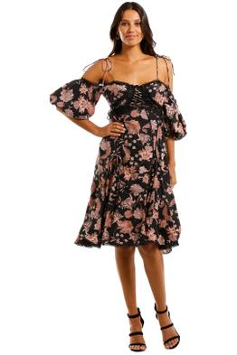 Thurley Pineapple Chintz Lace Up Midi Dress