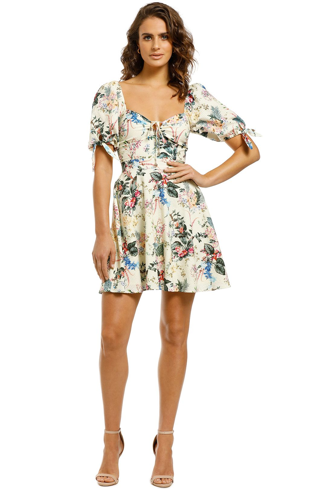 Tigerlily-Kalani-Short-Dress-Floral-Front
