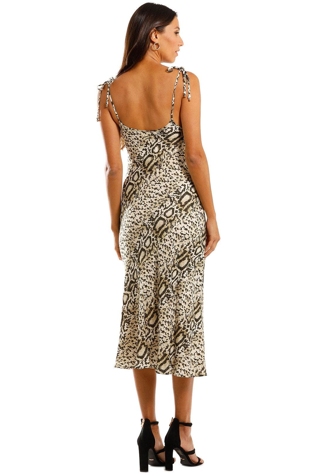 Tigerlily Jerry Slip Dress Animal Print Midi Length