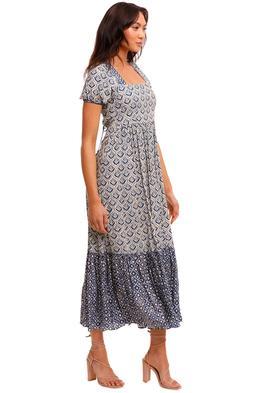 Tigerlily Vergara Alsina Tie Back Maxi Dress
