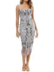 Tinaholy - Estrella Cocktail Dress - Silver - Front