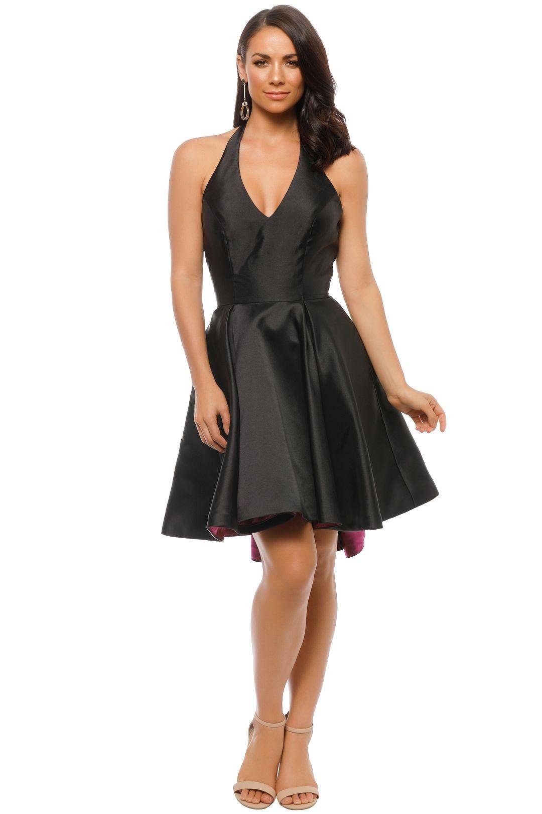 Tinaholy - Mikado Mini Dress - Black - Front