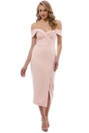 Tinaholy - Blush Sweetheart Midi Dress - Front
