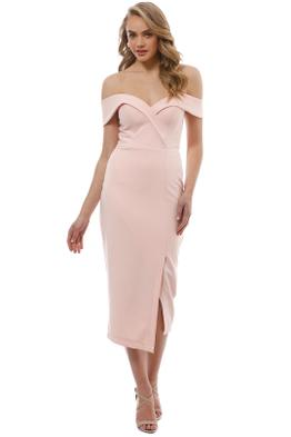 Tinaholy - Blush Sweetheart Midi Dress - Front