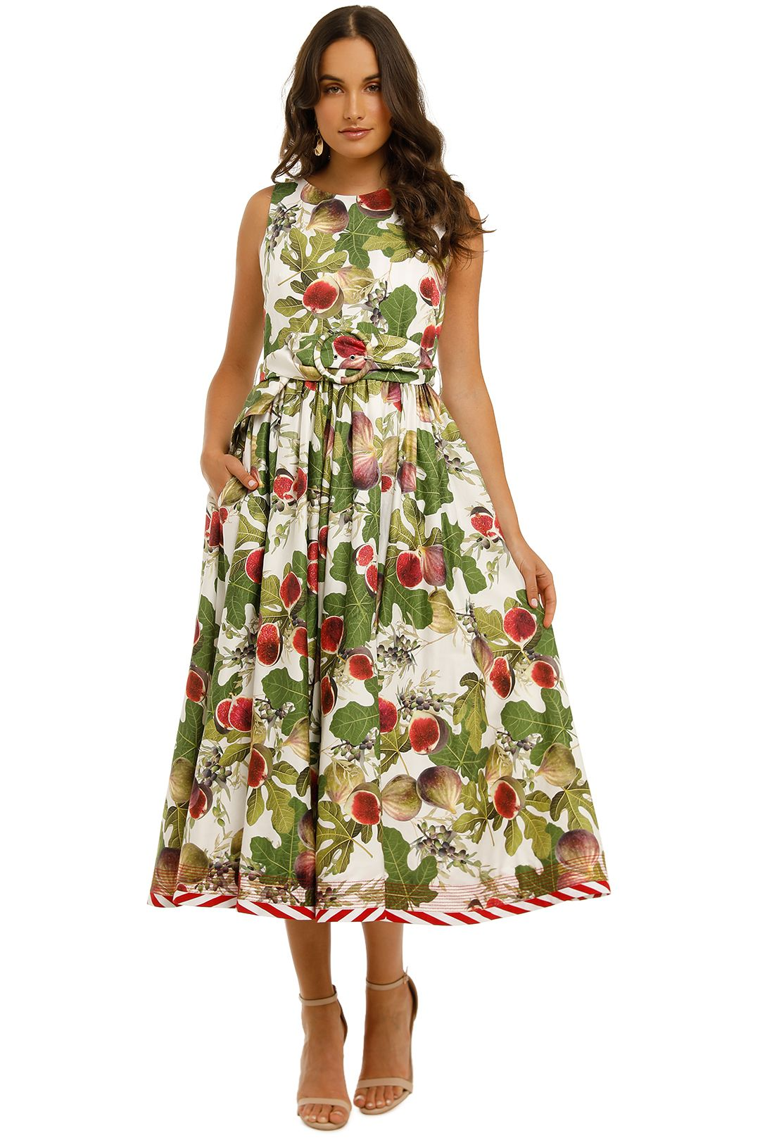 Trelise-Cooper-Bow-Me-Away-Dress-White-Fig-Front
