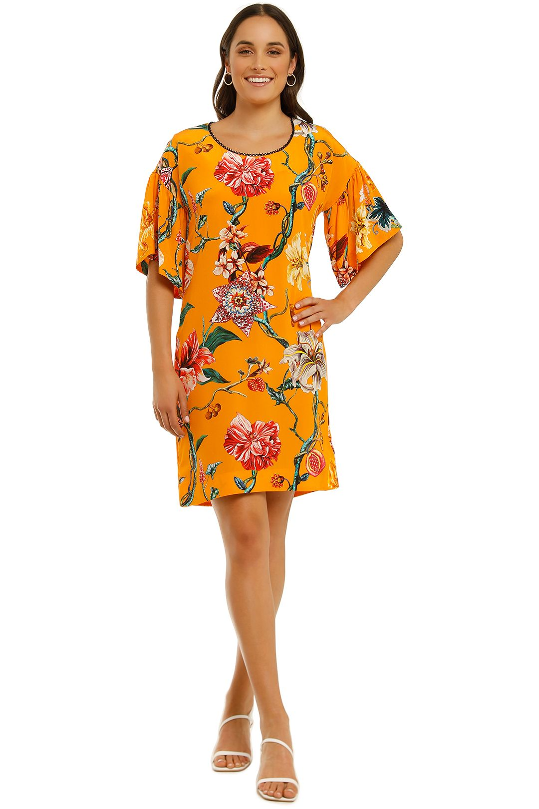 Trelise-Cooper-Nice-To-Sweet-You Tunic-Mango-Floral-Front