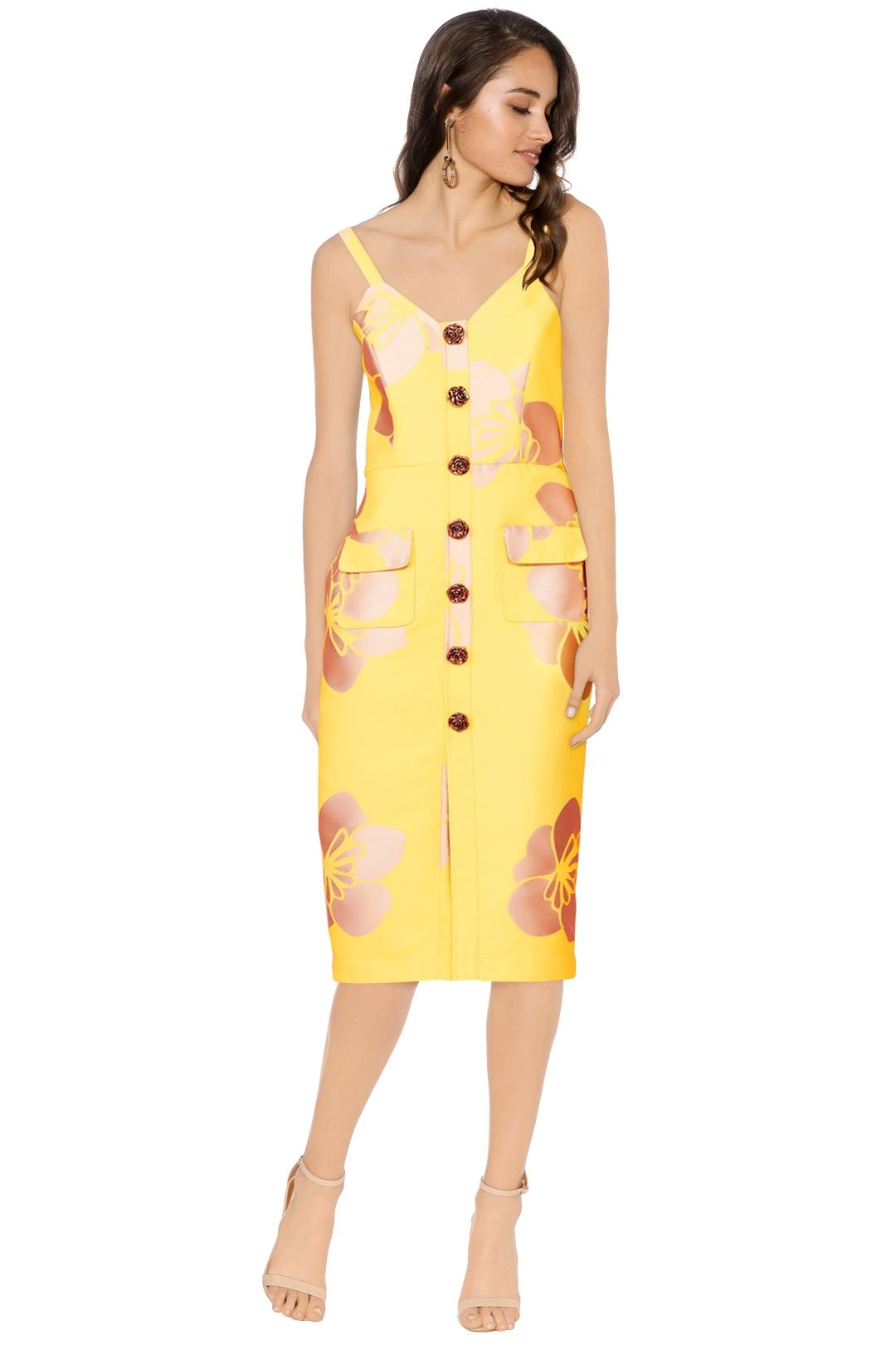 Trelise Cooper - A Bloom Of Ones Own Dress - Yellow - Front