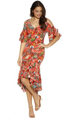 Trelise Cooper - Get Rich Or Tie Trying Dress - Tangerine - Front