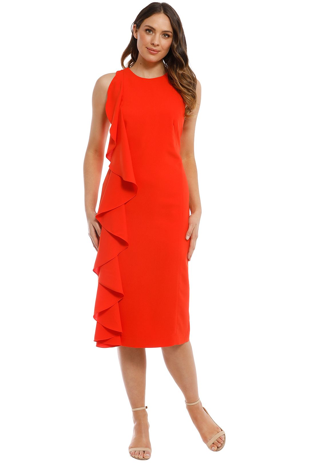 Trelise Cooper - Light My Fire Dress - Tangerine - Front