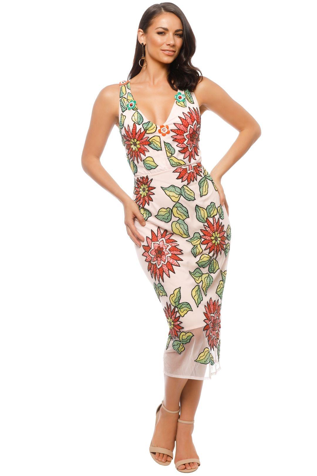 Trelise Cooper - Million Dollar Lady Dress - Pink Floral - Front