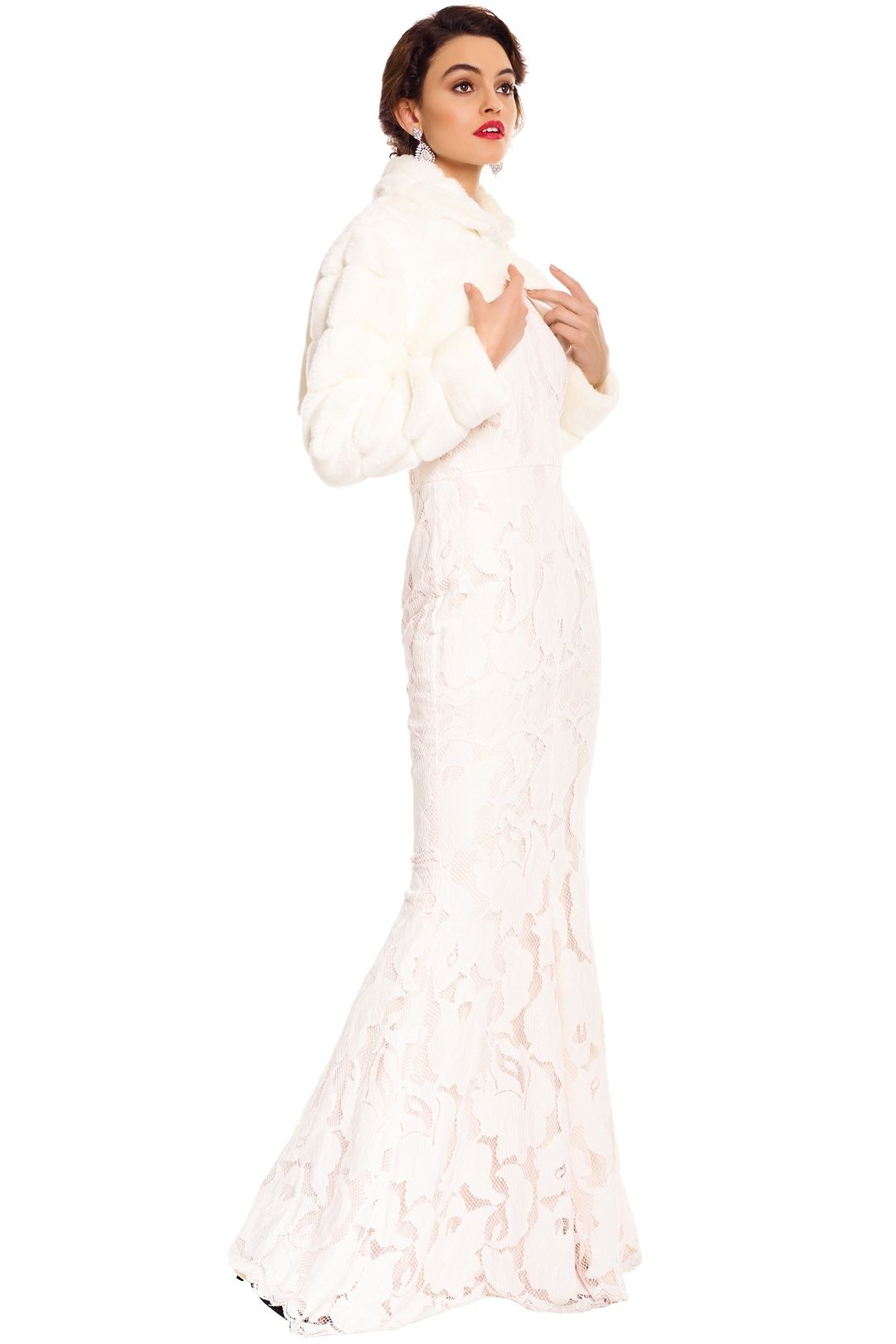 Tulip Bridal - Fayth Bolero - Ivory - Side