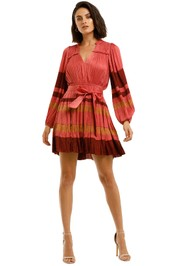 Ulla-Johnson-Alia-LS-Short-Dress-Cerise-Front