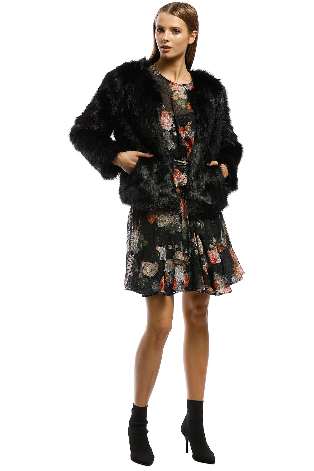 Unreal Fur-Unreal Dream Jacket-Black-Front