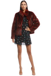 Unreal Fur - Fur Delish Jacket - Lush Rust - Front