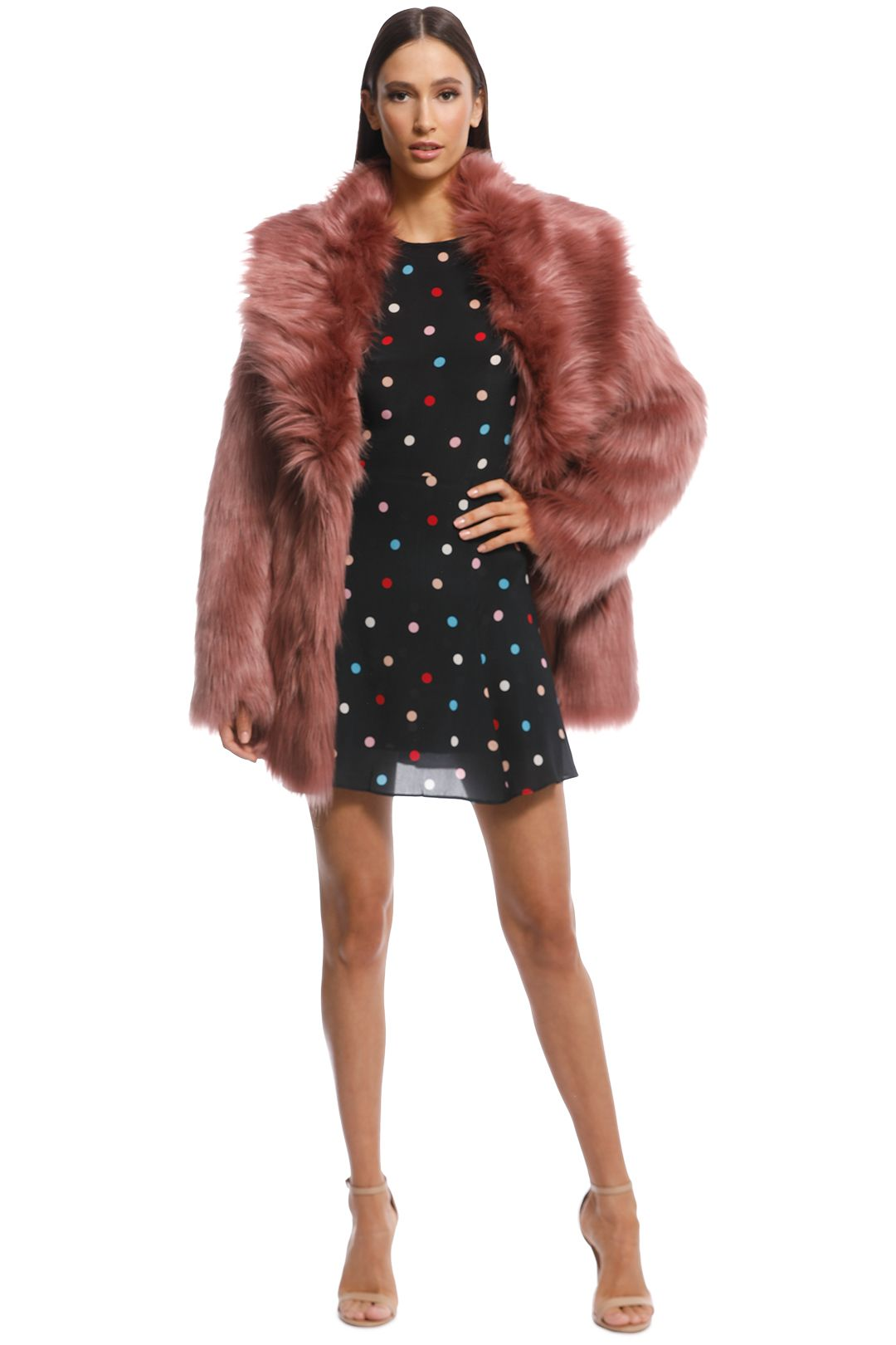 Unreal Fur - Premium Rose Jacket - Evening Rose - Front