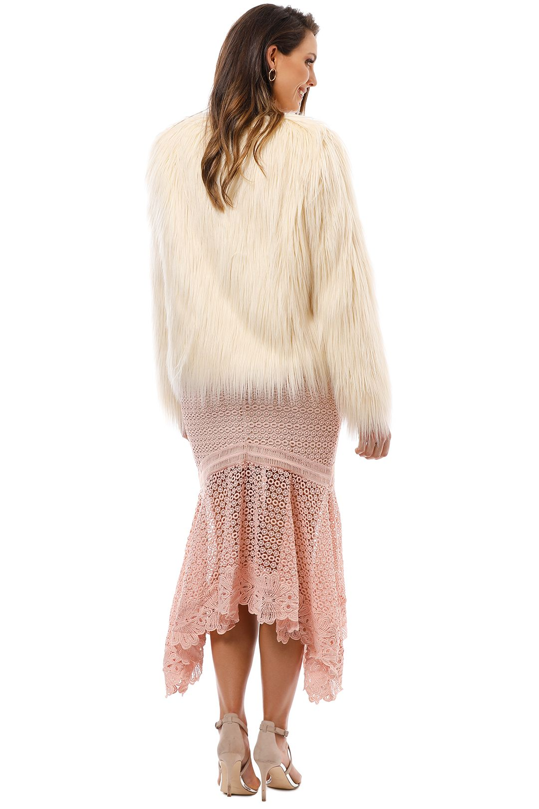 Unreal Fur - Unreal Dream Jacket - Ivory - Back