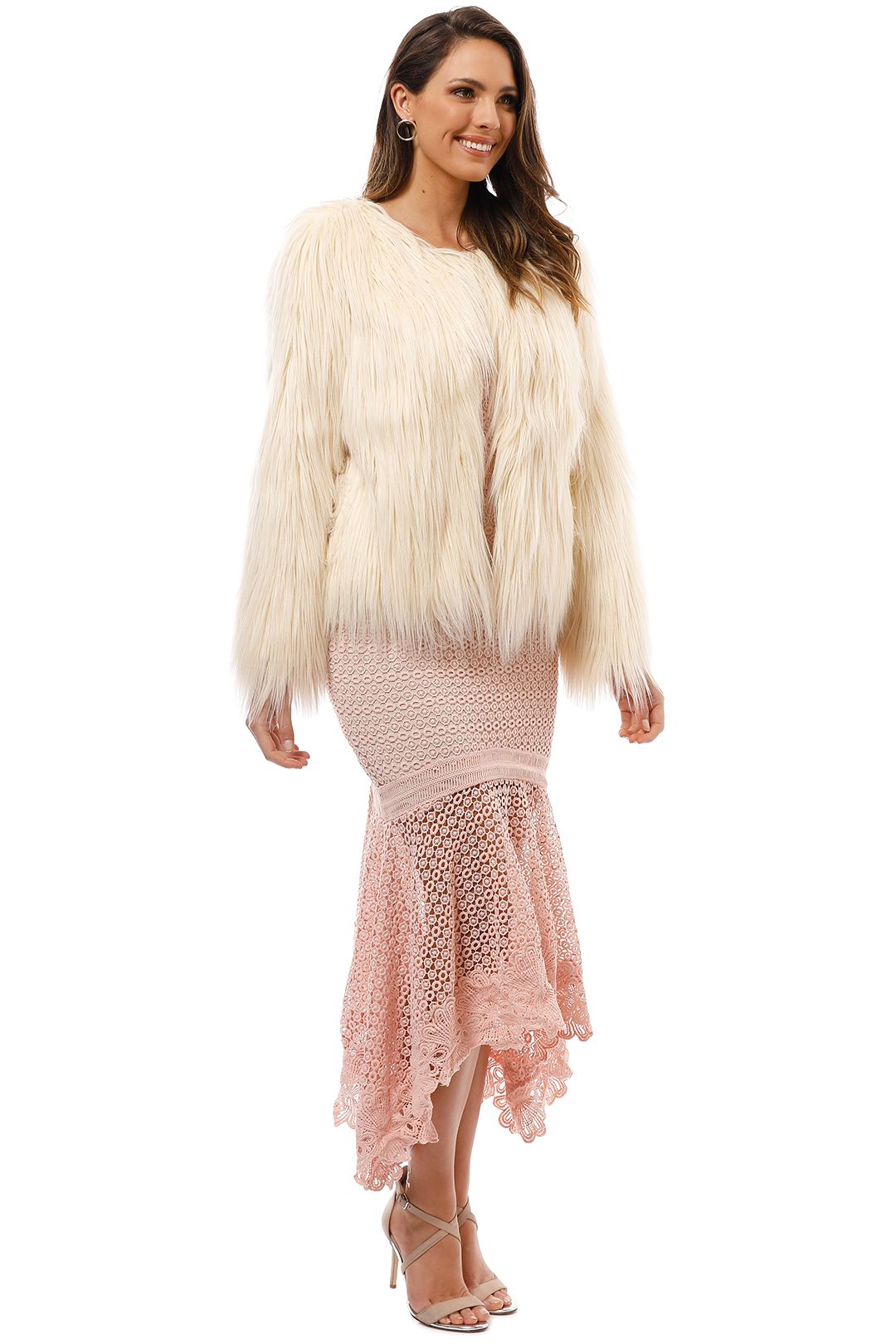 Unreal Fur - Unreal Dream Jacket - Ivory - Side
