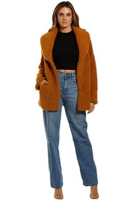 Unreal Fur Freedom Jacket French Mustard Shearling