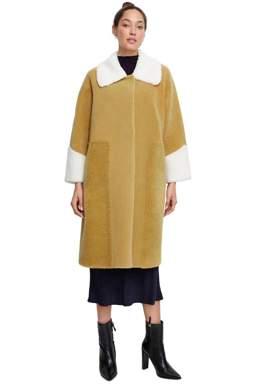 Unreal Fur Furever Chic Coat Mustard