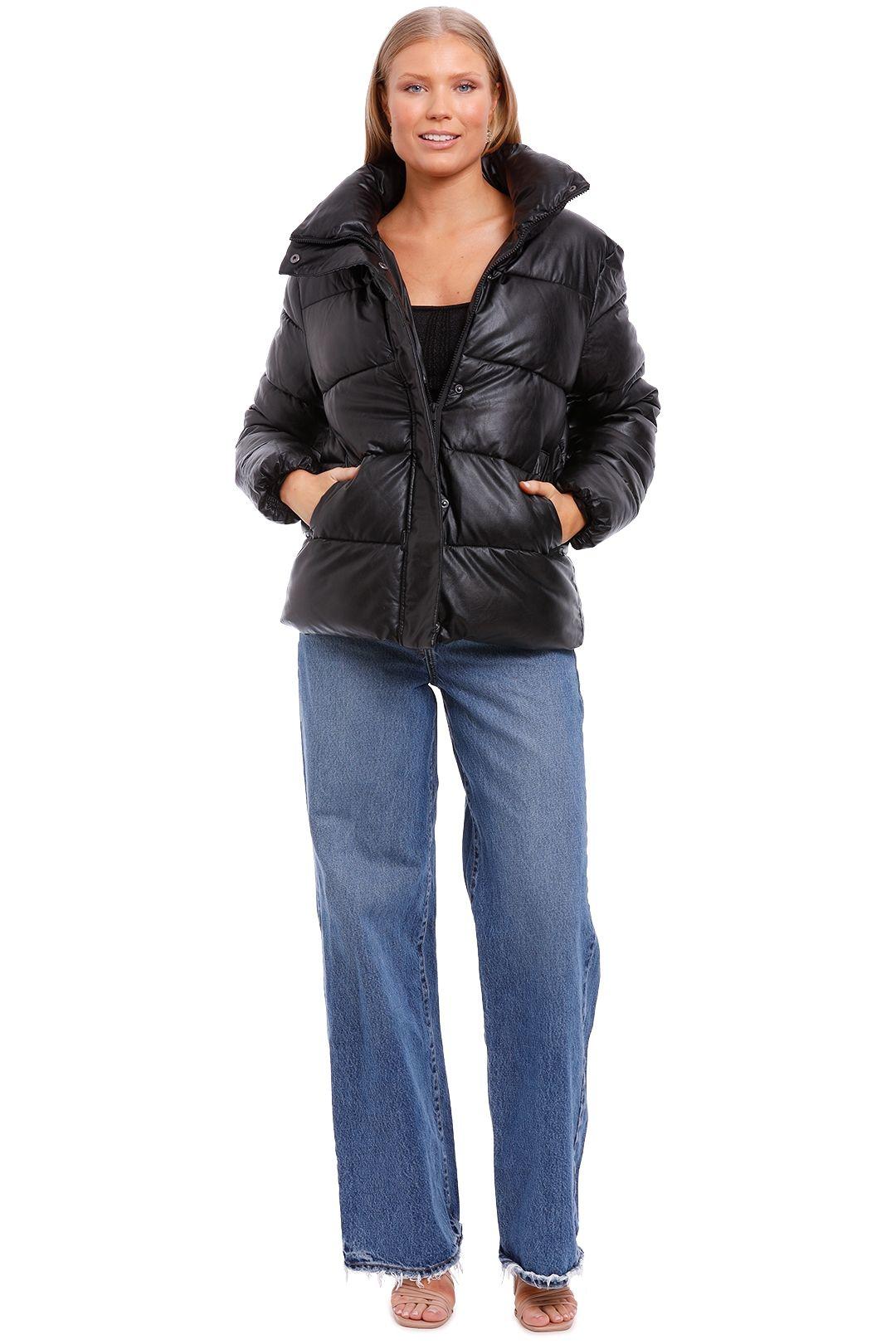 Unreal Fur Major Tom Puffer Jacket Black