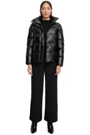 Unreal Fur Major Tom Puffer Jacket Black High Neckline