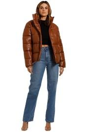 Unreal Fur Major Tom Puffer Jacket Tan