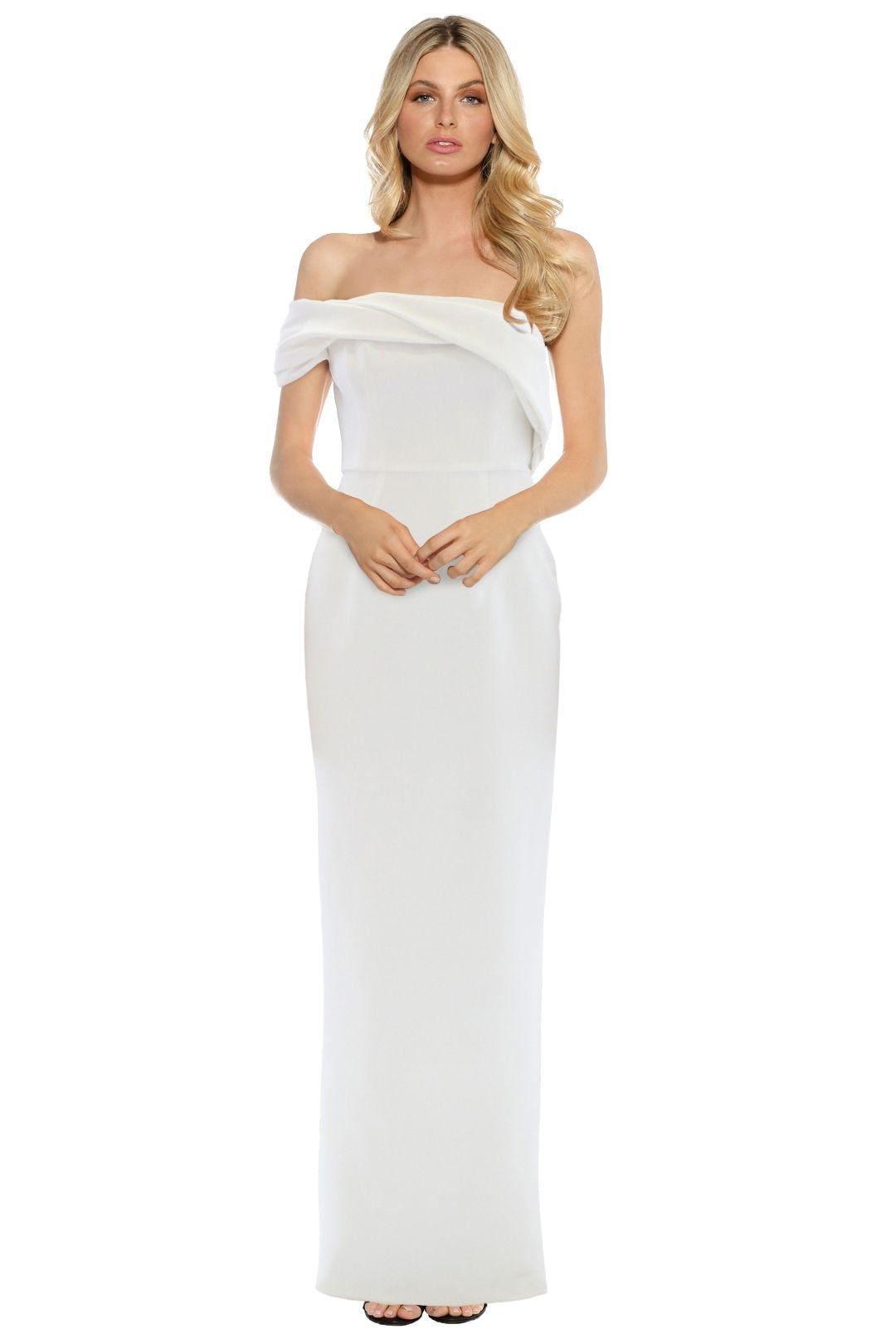 Unspoken - Aster One Shoulder Dress - Ivory - Front