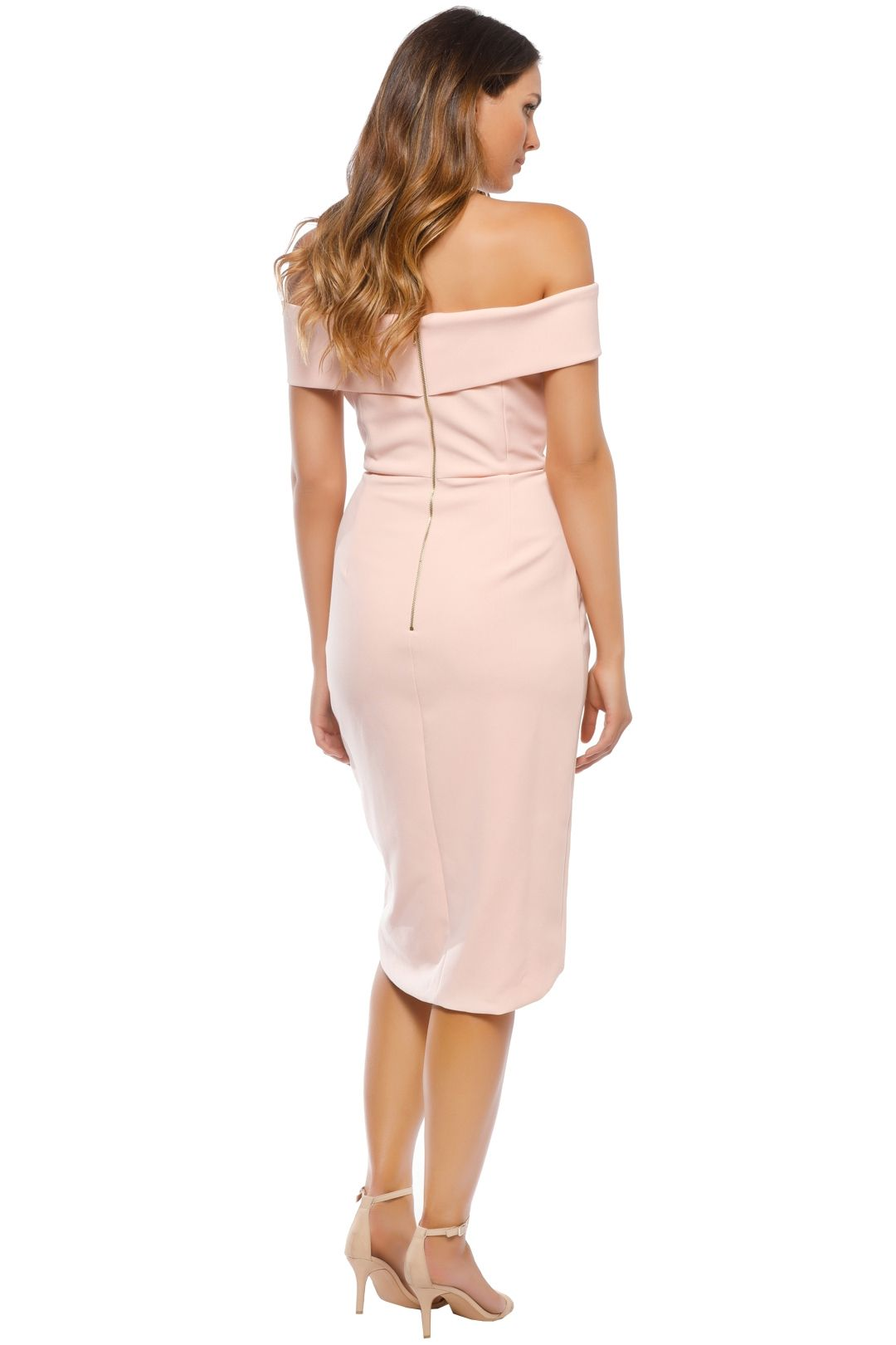 Unspoken - Jamai Short Dress - Pale Blush - Back