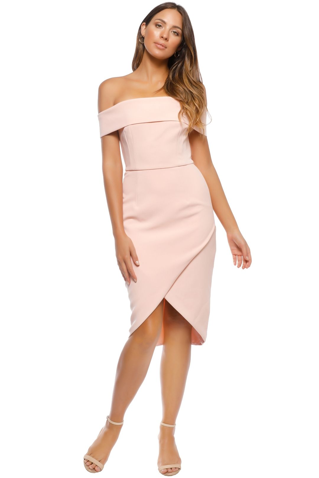 Unspoken - Jamai Short Dress - Pale Blush - Front