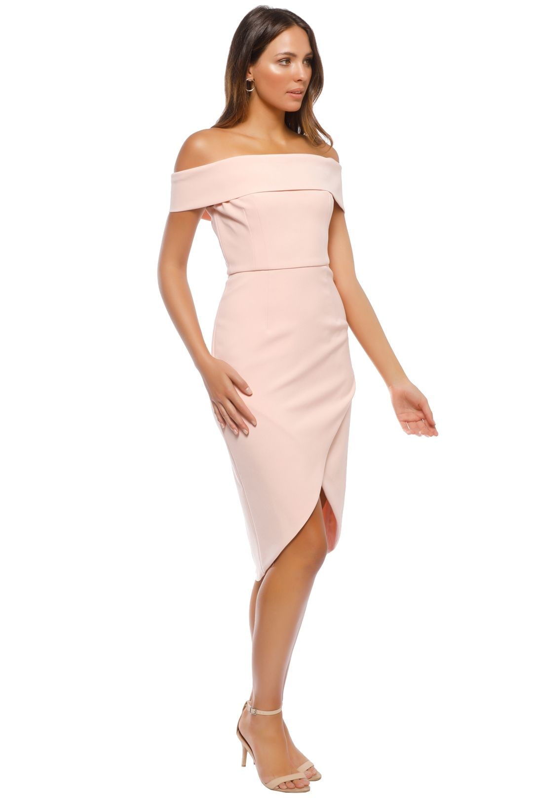 Unspoken - Jamai Short Dress - Pale Blush - Side