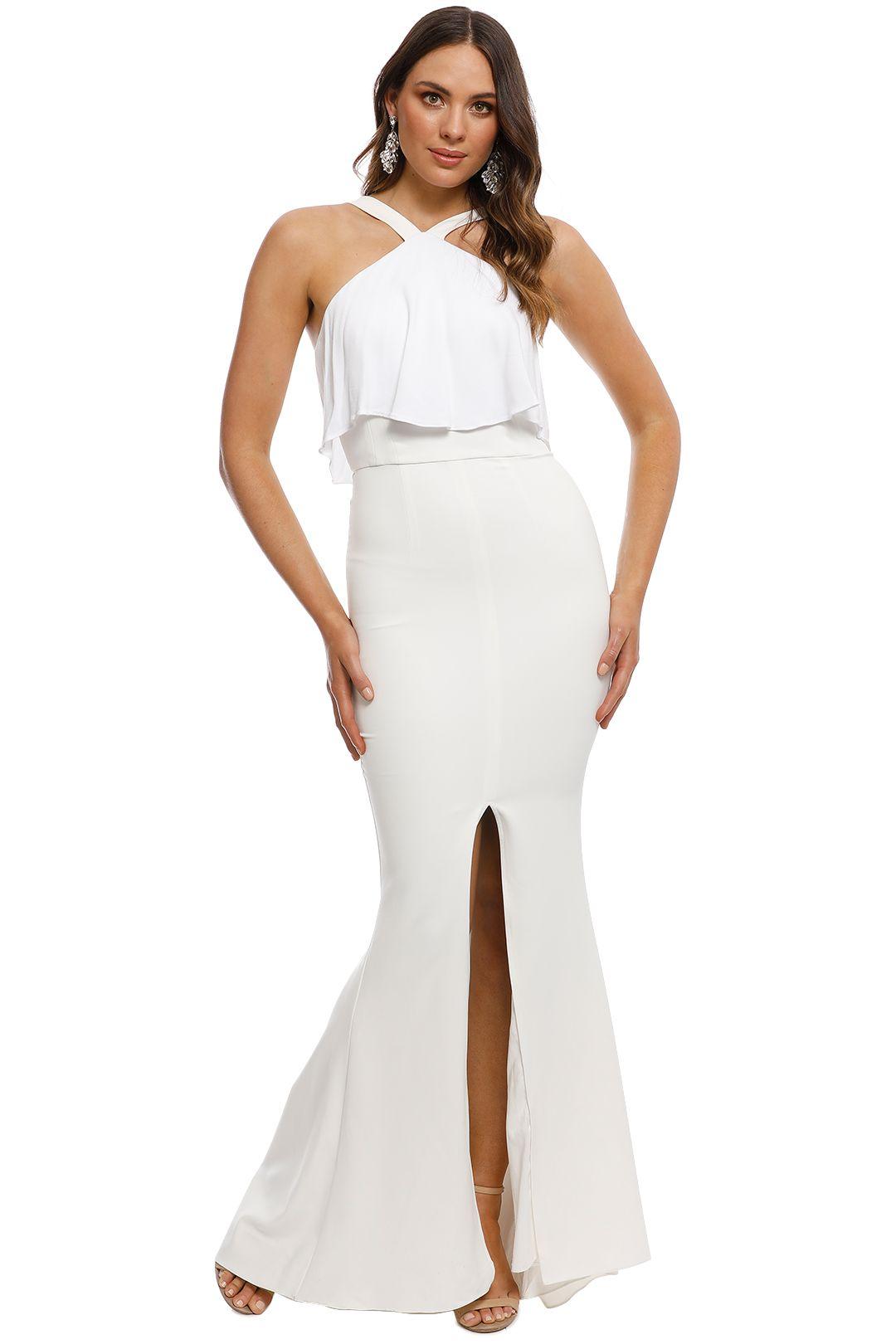 Unspoken - Rococo Ruffle Dress - Ivory - Front