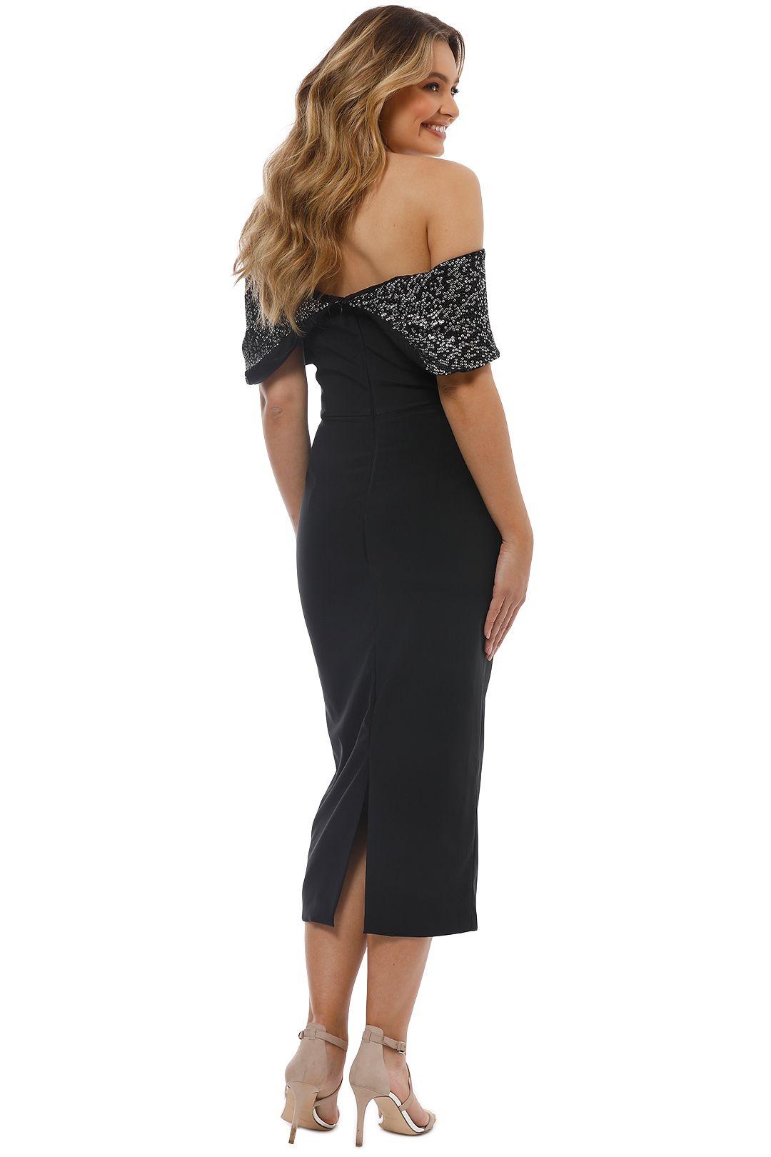 Unspoken - Camille Off Shoulder Dress - Black - Back