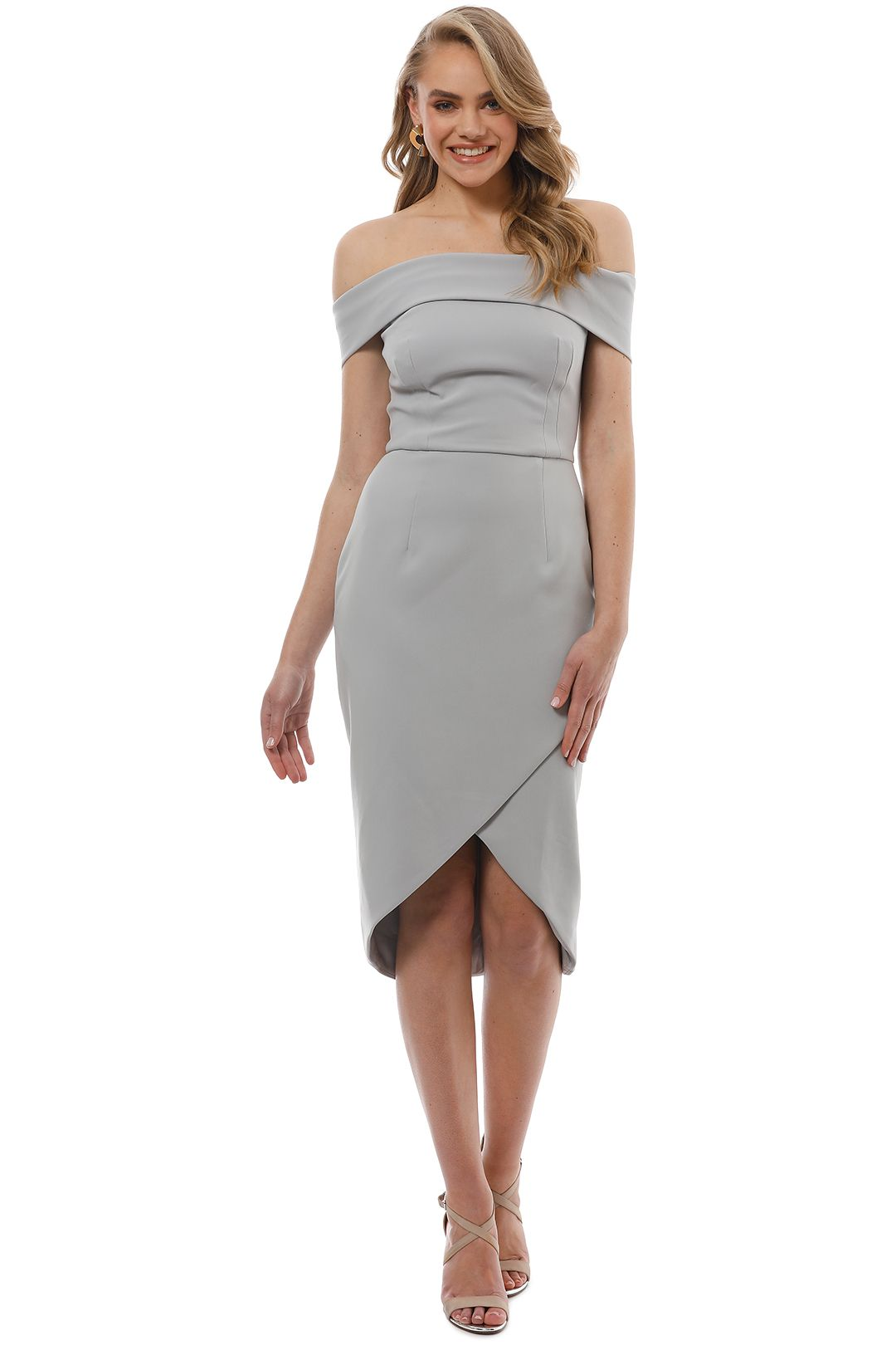 Unspoken - Jamai Short Dress - Dove Grey - Front