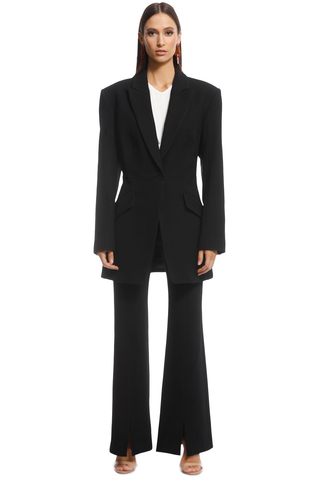 Veronika Maine - Stretch Hourglass Jacket - Black - Front