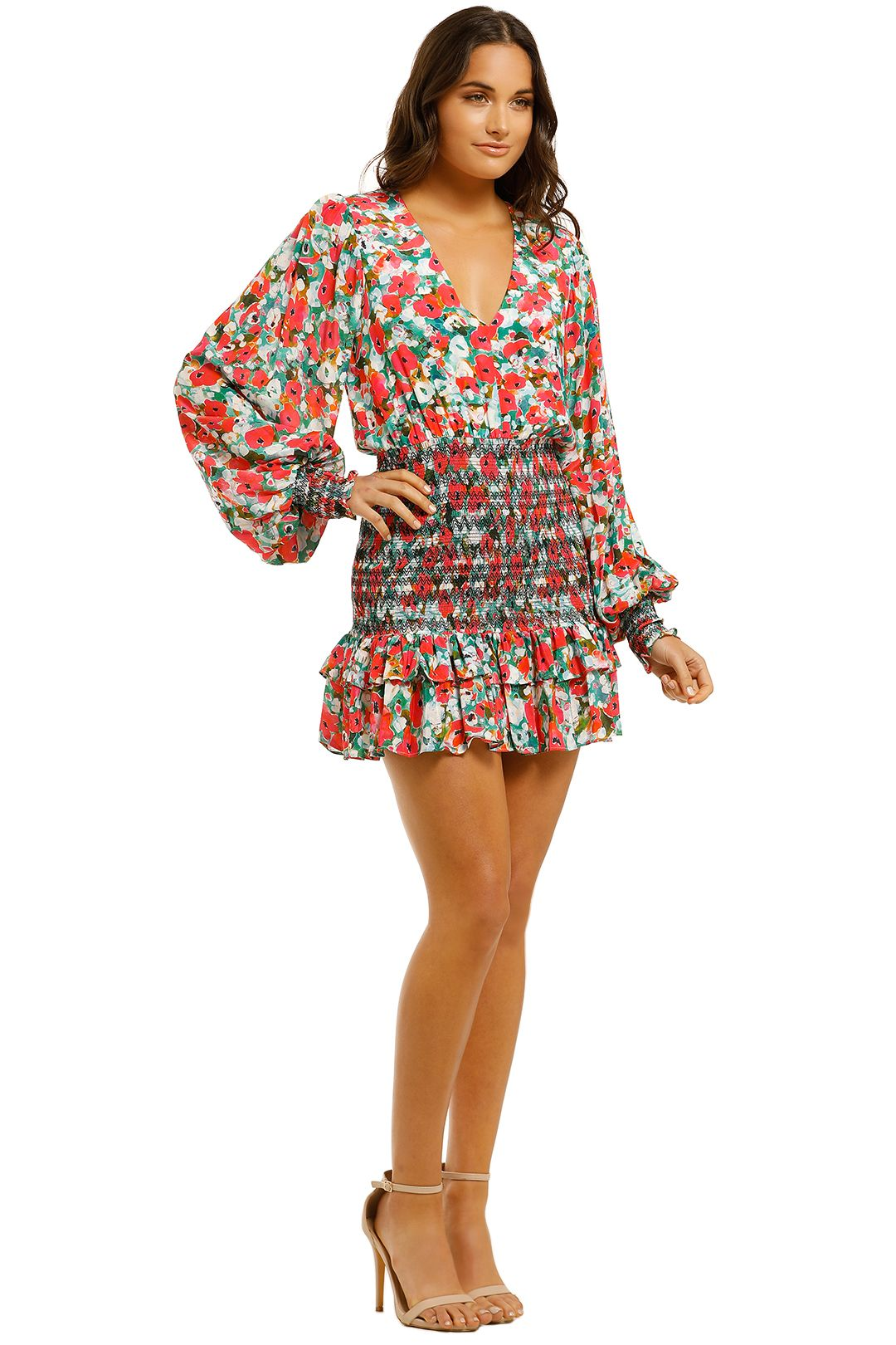 Vestire-Little-Havana-LS-Mini-Dress-Floral-Print-Side