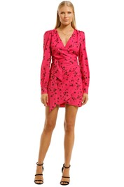 Vestire-Never-Been-Kissed-Wrap-Mini-Dress-Heart-Print-Front
