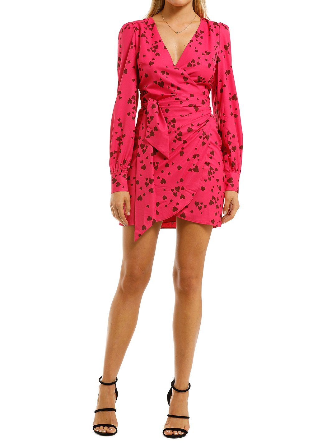 Vestire-Never-Been-Kissed-Wrap-Mini-Dress-Heart-Print-Front