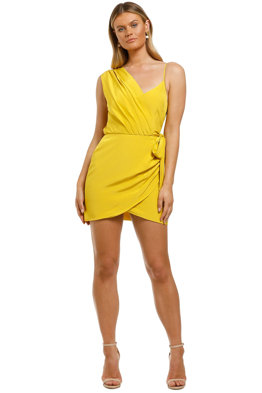 Vestire-Pretty-Hurts-Mini-Dress-Mustard-Front