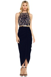 Virgos Lounge - Genevieve Maxi Dress - Navy - Front