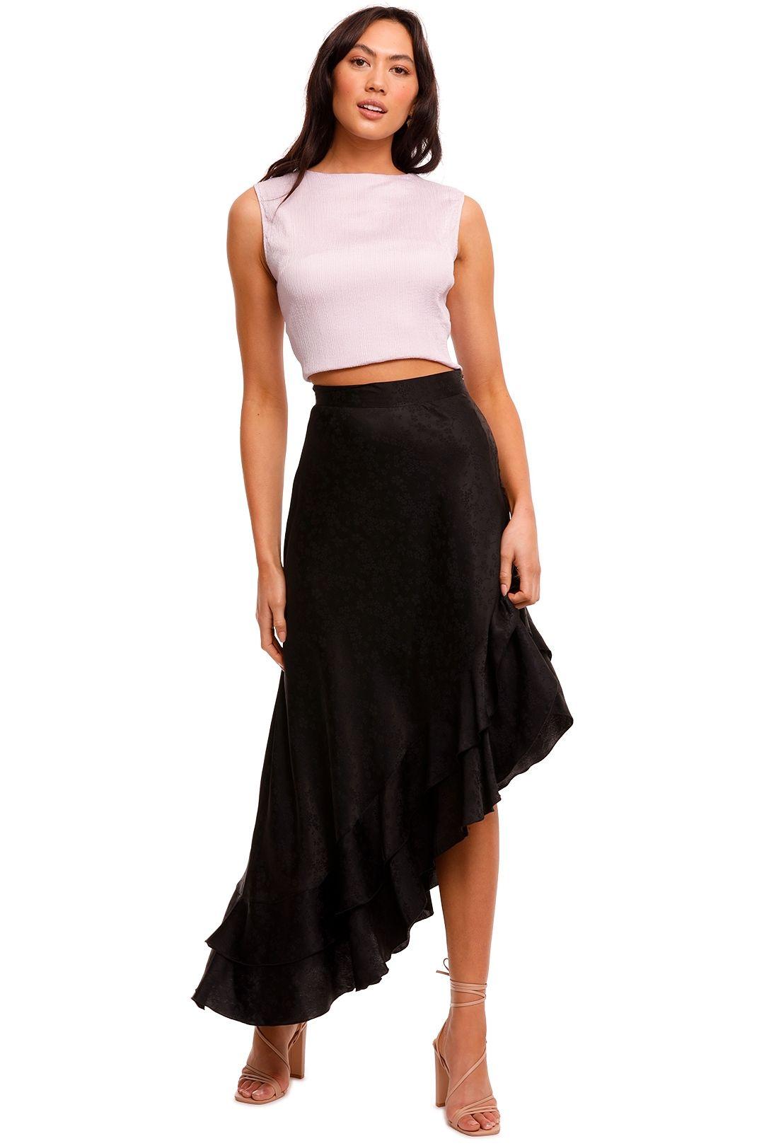 Wandering Asymmetric Jacquard Skirt ruffle