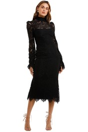 Wandering Black Lace Dress